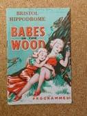 Babes in the Wood theatre programme 1953 panto Nita Croft Bristol Hippodrome